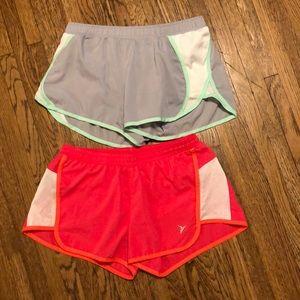 Set of old navy activewear shorts